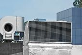 foto of ventilator  - Industrial steel air conditioning and ventilation systems - JPG