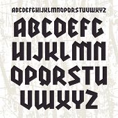 image of grotesque  - Sans serif geometric font in gothic style - JPG