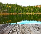 foto of dock a pond  - Pond in White Mountain National Forest - JPG