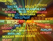 stock photo of wise  - Background concept wordcloud multilanguage international many language illustration of wise glowing light - JPG