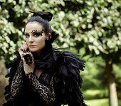 pic of evil queen  - Dark Queen in park - JPG