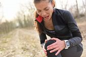 stock photo of knee-cap  - Sport and fitness injury  - JPG