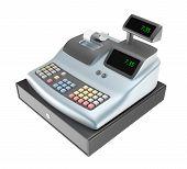 foto of cash register  - Cash register isolated on a white background - JPG