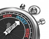 image of chronometer  - Startup risk invest concept in the form of chronometer watch - JPG