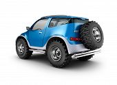 image of muscle-car  - Blue offroad car concept - JPG