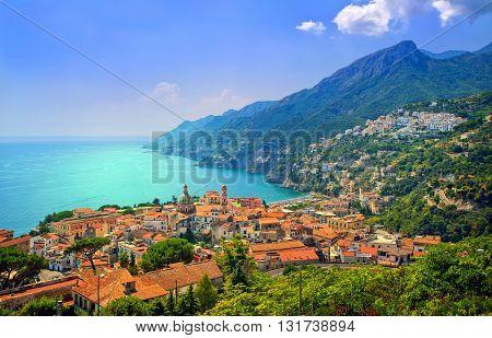 Salerno On Amalfi Coast South Of Naples, Italy
