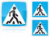 Set Of Variants A Crosswalk Road Sign