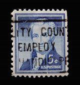 canceled postage stamp