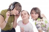 Portrait of a styled teens. Theme: TEENS, MUSIC, FAMILY