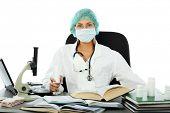 Medicine, healthcare, medical staff, science equipment.