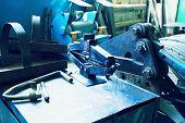 An industrial background. Machine, mechanism.