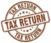 Постер, плакат: Tax Return Brown Grunge Round Vintage Rubber Stamp tax Return Stamp tax Return Round Stamp tax Retur