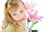 stock photo of 6 year old  - Portrait of a cute 6 years old girl - JPG