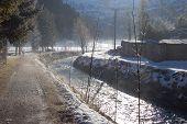 Simmetal Rivere In Lenk In Winter