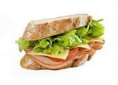 Ham And Salad Sandwich