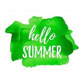 Постер, плакат: Hello Summer Summer Season Summer Wallpaper Summer Time Happy Summer Summer Day Summer Design