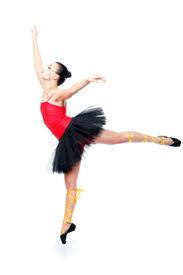 image of ballet dancer  - Shot of an expressive ballet dancer - JPG