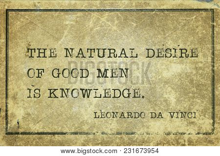 The Natural Desire Of Good