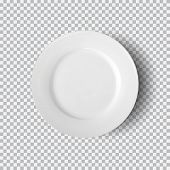 White Plate Isolated On Transparent Background. Kitchen Dishes For Food, Plate And Dish Clean For Ki poster