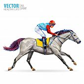 Jockey On Horse. Champion. Horse Racing. Hippodrome. Racetrack. Jump Racetrack. Horse Riding. Racing poster
