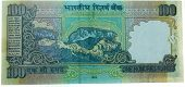back side of hundred rupee indian note