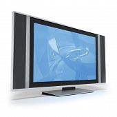Lcd Screen Tvs With Abstract Blue Display