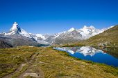 Matterhorn, Nadelhorn and Stelisee