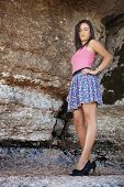 Young Girl In A Miniskirt