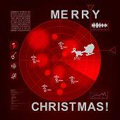 Santa Caught On Radar - It's Christmas Time