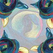 Collage Background 'Silk Rose'