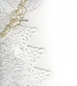 Pure white luxury wedding border