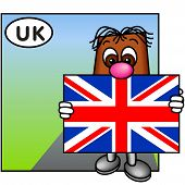 'Brownie' Showing The Flag Of The United Kingdom