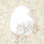 foto of pasqua  - Easter egg with floral elements - JPG
