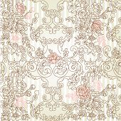 Vintage floral background. Vector illustration.