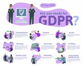 Gdpr Concept, Illustration. General Data Protection Regulation. The Protection Of Personal Data, Che poster