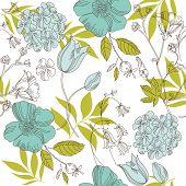 seamless vintage flower pattern