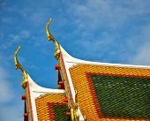 Roof in Wat Phra Keaw Thailand