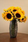 Sunflowers In An Interesting Vase