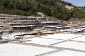Located In The Salt Valley Of Añana, These Salt Production Pans Are One Of The Oldest Salt Productio poster