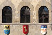 Medieval Building In Arezzo (tuscany, Italy): Three Windows