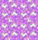 Purple unicorn wallpaper
