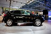 Moscow, Russia - August 25:  Black Jeep Car Nissan Murano At Moscow International Exhibition Interau
