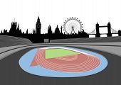 Stadium With London Skyline