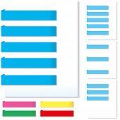 White brochure design