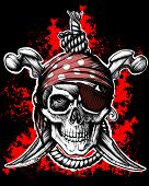 picture of skull crossbones flag  - Jolly Roger - JPG