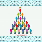 Peace on Earth Lightbulb Tree