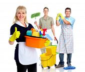stock photo of maids  - Smiling maid woman - JPG