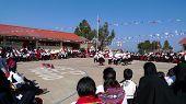School event in Taquile, Lake Titicaca, Peru