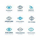 Magic Eye Logos. Mysterious Sight Symbols. Vision Vector Badges. Illustration Of Eye Logo Concept, E poster