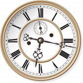 Antique clock. Vector illustration.